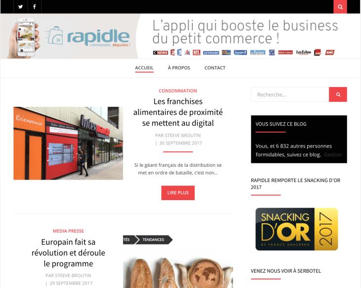 Marketing News : Rapidle ouvre son Blog sur l'actualité des commerçantsconnectés
